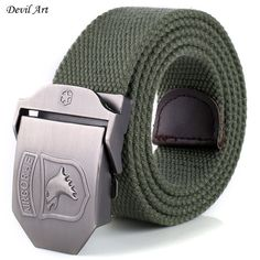Hot 2017 Cintos Men's Belts 140CM Military Canvas Belt For Men Weave Buckle  Fashion Jeans Casual Wild Belt Automatically