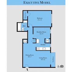 Arrowood Parc's #Executive #ApartmentHome has a spacious and comfortable one bedroom living space!
