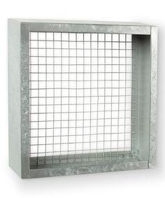 Look at this #zulilyfind! Small Square Galvanized Metal Shelf Unit #zulilyfinds