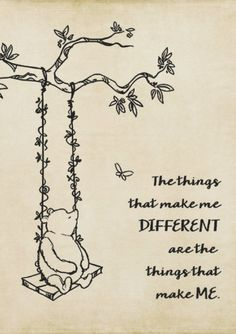 'Winnie the Pooh - The things that make me different' Canvas Print by SouthernSassArt - Puuh - Quotes
