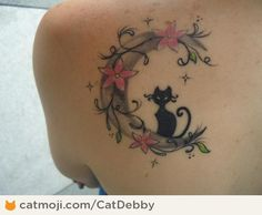 Image result for crescent flower moon tattoo