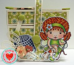 Sewing Box by Debbie Pamment featuring Club La-La Land Crafts (February 2015) exclusive Sewing Faerie Marci, Sewing Elements Stamp Set and these Dies - Swatch and Buttons, Fancy Scissors, Fancy Buttons :-)   Club La-La Land Crafts subscription details are here - http://lalalandcrafts.com/Club_La-La_Land_Crafts.html    Coloring details and more Design Team inspiration here - http://lalalandcrafts.blogspot.ie/2015/02/club-la-la-land-crafts-february-2015_24.html