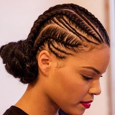 The chicest braided bun we've ever seen.