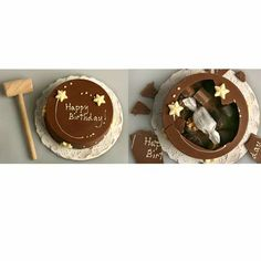 Chocolate pinatas cake!  Cool!