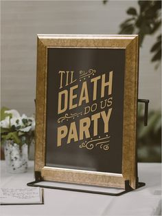 wedding sign @weddingchicks