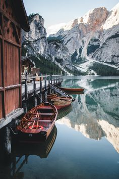 The still clear waters of Lago Di Braies, Italy Oh The Places You'll Go, Places To Travel, Places To Visit, Landscape Photography, Nature Photography, Travel Photography, Photography Tips, Digital Photography, Photography Equipment