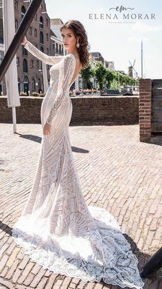 Weddinginspirasi.com featuring - Elena Morar & Perfioni Wedding Dresses -- elena morar 2021 rotterdam bridal long sleeves deep plunging v neck full embellishment elegant glamorous fit and flare wedding dress v back medium train (rm005) bv #Ad #Bridal #ElenaMorar #Perfioni #Sposa #Wedding #Weddingdress #WeddingDresses #WeddingGown #WeddingGowns ~ Gorgeous Wedding Dress, Dream Wedding Dresses, Beautiful Gowns, Wedding Gowns, Fit And Flare Wedding Dress, Wedding Dress Sleeves, Long Sleeve Wedding, Chandelier Chain, Curvy Bride