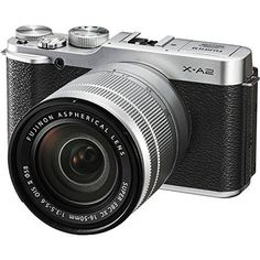 Fujifilm XA2 Mirrorless Digital Camera with 1650mm Lens Silver  International Version No Warranty -- Find out more about the great product at the image link.