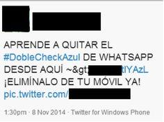 Como evitar que te engañen con el doble check azul de WhatsApp. Más noticias de tecnología en www.technopatas.com
