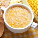 Summer Corn Chowder: By Ulli Stachl Television Food Producer, Food Stylist and Culinary Consultant Summer Corn Chowder, Vegan Corn Chowder, Soup Recipes, Healthy Recipes, Diabetic Recipes, Healthy Treats, Vegetarian Recipes, Canadian Bacon, Vegan Soups