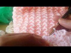 Punto Crochet # 18 Hojitas en relieve con Espigas para cobijas y colchitas de Bebe - YouTube