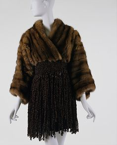 Jacket, Christian Lacroix, F/W 1989-90, French, sable and silk