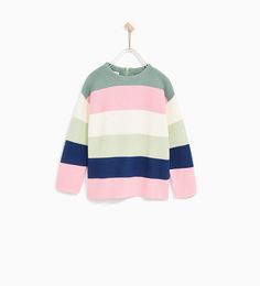 MULTICOLORED STRIPED SWEATER-JACKETS, CARDIGANS AND SWEATERS-GIRL | 4-14 years-KIDS-SALE | ZARA United States