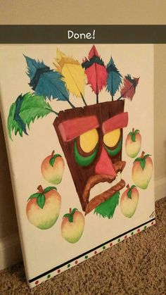 My art, Aku Aku from Crash Bandicoot