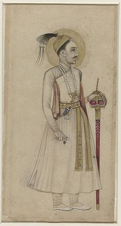 Portret van Sultan Muhammad-Quli Qutb-Shah van Golconda, anonymous, c. Mughal Paintings, Indian Art Paintings, History Of India, Thing 1, Time Painting, Art And Architecture, Muhammad, Miniatures, The Incredibles