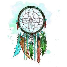 Dream Catcher #6, Print of Original Watercolor Painting Native... ❤ liked on Polyvore featuring home, home decor, wall art, inspirational wall art, paper wall art, motivational paintings, inspirational paintings and inspirational home decor