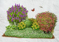 Der betörende Duft des Flieders legt sich wie ein Schleier über Buxus, Sonnenhut oder Funkie. Ein besonderes Fleckchen Natur – findet auch der Schmetterling.