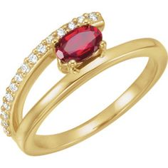 NEW! Chatham Created Lab Grown Ruby & Diamond Ring. Click through for product details.