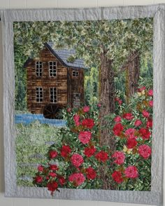 Landscape Quilts | The Old Mill | Quilts: #2 Landscape & Art Quilts