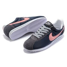 Top Quality Nike Classic Cortez Leather Women Blue Pink Running Shoes