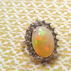 Ethiopian opal and brown diamonds