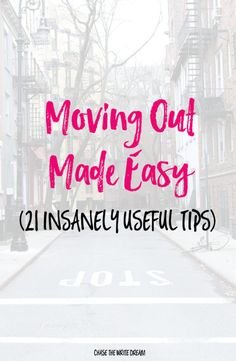 Moving Out Made Easy - Leaving for college? Getting your own apartment? Follow these moving tips to save you time and money!