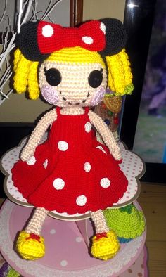 My crochet lalaloopsy in mini mouse clothes so cute...