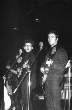 1961 - Stuart Sutcliffe, George Harrison and John Lennon.