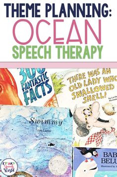 Planning speech therapy with ocean themed materials