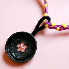 Rapunzel's Frying Pan Necklace craft - fun for girls, even girls young at heart