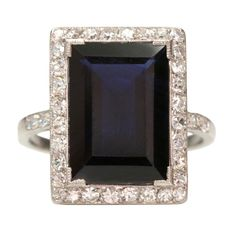 Sapphire and Diamond Engagement Ring  Purchase > CREATION DATE: 	1920 CONDITION: 	Good