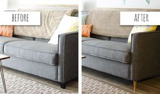 Home Makeover: Replace the Legs on an Old Sofa to Give it New Life | Ella Vine & Co.