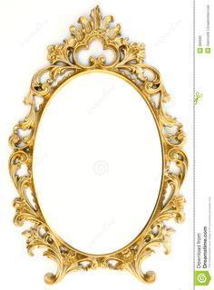 Frame De Retrato Dourado Imagens de Stock Royalty Free - Imagem: 880589