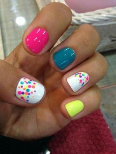60 Polka Dot Nail Designs for the season that are classic yet chic - Hike n Dip Since Polka dot Pattern are extremely cute & trendy, here are some Polka dot Nail designs for the season. Get the best Polka dot nail art,tips & ideas here. Girls Nail Designs, Dot Nail Designs, Art Designs, Nails Design, Design Ideas, Easter Nail Designs, Shellac Nail Designs, Colorful Nail Designs, Nail Designs Spring