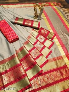 Sarees Trendy Cotton Silk Women's Sarees   *Fabric* Saree - Cotton Silk , Blouse - Cotton Silk, Extra Blouse - Cotton Silk  *Size* Saree Length With Running Blouse - 6.30 Mtr, Extra Blouse - 0.80 Mtr  *Description* It Has 1 Piece Of  Saree With Running Blouse With 1 Piece Of Extra Blouse  *Work* Woven Design  *Sizes Available* Free Size *   Catalog Rating: ★4.1 (1128)  Catalog Name: Solid Cotton Silk Sarees With Tassels And Latkans CatalogID_413574 C74-SC1004 Code: 075-3025827-