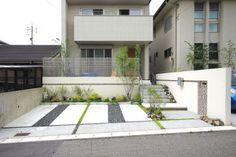 愛知の外構 **Wise GALLERY** ナチュラルモダン編 門周り施工例 外構 エクステリア Japan Architecture, Garden Design, House Design, Exterior Front Doors, House Entrance, Japanese House, House Front, New Homes, Home And Garden