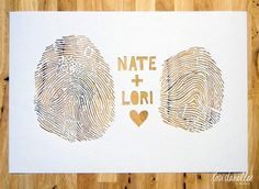 His finger prints plus mine equals beans....this would be cute to hang on the wall