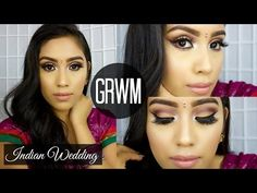 GRWM Indian Inspired Makeup & Outfit: Attending Indian Wedding/Reception | ft Artist Palette - YouTube