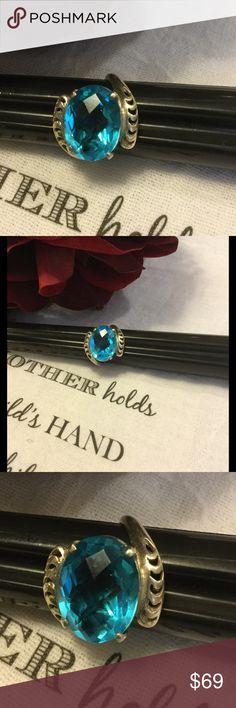 Selling this EUC Blue Topaz 6Kt. Sterling Silver Ring on Poshmark! My username is: kennjenn2010. #shopmycloset #poshmark #fashion #shopping #style #forsale #Sterling Silver #Jewelry