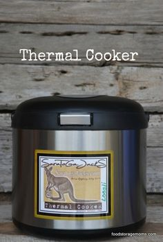 Have you wondered how to use a thermal cooker to make meals? Do you know what a thermal cooker is by chance? It's basically a slow cooker without power.