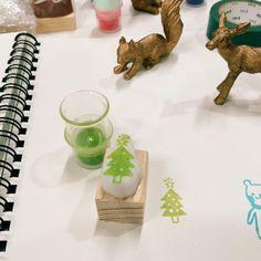 tiny christmas tree rubber stamp,christmas tree pattern rubber stamp,christmas tree hand carved stamp,christmas tree pattern stamp