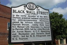 """DURHAM, NC–Nathan Garrett still remembers when downtown'sParrish Street was the address of """"Black Wall Street""""â€"""" a black-owned financial district just around the corner from Main Street, in the heart of Durham's white business district. """"It was unique in Durham because you had this concentration of black executives and professional people who were doing the same"""