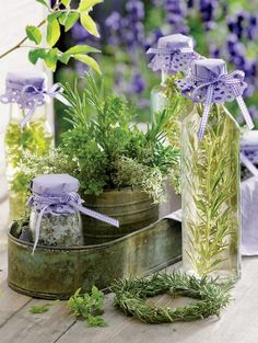 Lavender water in the sunlight