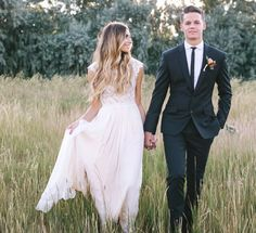 modest wedding dress with cap sleeves from alta moda bridal. -- (modest bridal gowns) --