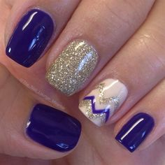 Deep Purple Chevron by TheNailLounge from Nail Art Gallery