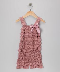 Look at this #zulilyfind! Dusty Rose Lace Romper - Infant & Toddler by Just Couture #zulilyfinds
