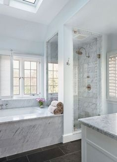 dream bathrooms A bath remodel is no small undertaking. So before you start tearing up the tiles and picking out the tub, get a little advice from the people who make bathroom makeover Master Bathroom Shower, Modern Master Bathroom, Bathroom Renos, Bathroom Renovations, Bathroom Interior, Small Bathroom, Master Bathrooms, Glass Bathroom, Bathroom Mirrors