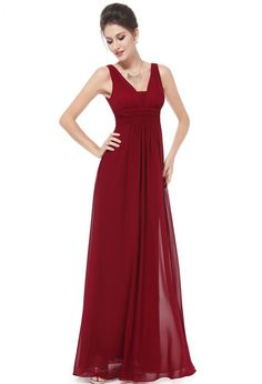 Ever-Pretty Long Formal Evening Gowns Chiffon Sleeveless Bridesmaid Dress 08110 Pretty Homecoming Dresses, Pretty Quinceanera Dresses, Red Wedding Dresses, Formal Dresses, Party Dresses, Dresses 2014, Dresses Dresses, Long Dresses, Prom Dress