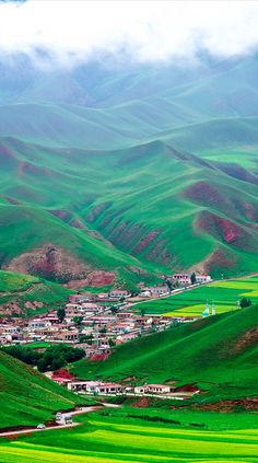 Beautiful landscape of Qinghai in northwest China • original source not found