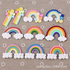 #10pcs christmas rainbow star #clouds polymer clay cabochon diy #scrapbooking cra,  View more on the LINK: http://www.zeppy.io/product/gb/2/281916301251/
